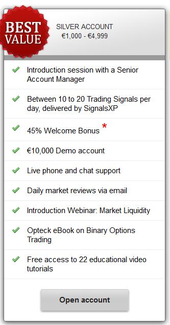 Silver account is our recommendation for a proper account type