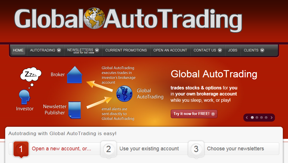 Global Auto Trading Main Page